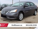 Used 2015 Nissan Sentra BLUETOOTH. AUTO. 4 DOOR for sale in Edmonton, AB