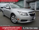 Used 2012 Chevrolet Cruze LT Turbo ACCIDENT FREE w/ POWER WINDOWS/LOCKS & TURBO for sale in Surrey, BC