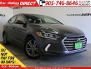 Used 2017 Hyundai Elantra GL| BACK UP CAMERA| TOUCH SCREEN| for sale in Burlington, ON