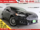 Used 2013 Ford Fusion SE| LEATHER| NAVI| SUNROOF| ECOBOOST| for sale in Burlington, ON