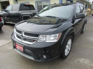 Used 2015 Dodge Journey FAMILY MOVING SXT MODEL 7 PASSENGER 3.6L - V6.. BENCH & 3RD ROW.. DVD PLAYER.. HEATED SEATS.. BACK-UP CAMERA.. for sale in Bradford, ON