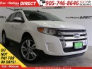 Used 2013 Ford Edge SEL| LEATHER| PANO ROOF| BACK UP CAMERA| AWD| for sale in Burlington, ON