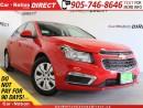 Used 2015 Chevrolet Cruze LT 1LT| BACK UP CAMERA| OPEN SUNDAYS| for sale in Burlington, ON