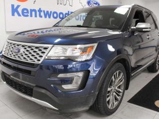 Used 2017 Ford Explorer Platinum AWD, NAV, sunroof, heated/cooled power leather seats, power third row seats, power liftgate for sale in Edmonton, AB