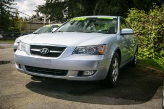 Used 2007 Hyundai Sonata GLS, 2.4L 4-Cyl, Loaded, Sunroof, Leather, Alloys! for sale in Surrey, BC