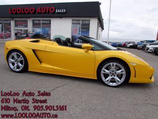 Used 2006 Lamborghini Gallardo Spyder AWD V-10 520bhp Canary Yellow for sale in Milton, ON