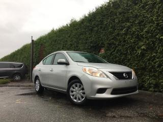 Used 2014 Nissan Versa 1.6 SV + BLUETOOTH + A/C + CRUISE CONTROL + NO EXTRA DEALER FEES for sale in Surrey, BC