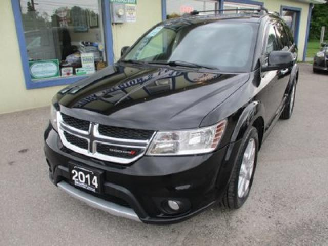 2014 Dodge Journey LOADED R/T EDITION 7 PASSENGER 3.6L - V6.. AWD.. BENCH & 3RD ROW.. LEATHER.. HEATED SEATS.. SUNROOF.. NAVIGATION.. BLUETOOTH..