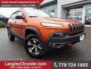 Used 2015 Jeep Cherokee Trailhawk W/ SAFETY TEC GROUP, FULL PARK ASSIST & PANORAMIC SUNROOF for sale in Surrey, BC