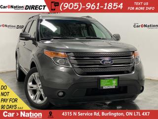 Used 2015 Ford Explorer Limited| 4X4| LEATHER| DUAL SUNROOF| NAVI| for sale in Burlington, ON