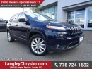 Used 2016 Jeep Cherokee Limited ACCIDENT FREE w/ LEATHER, NAVIGATION & REAR-VIEW CAMERA for sale in Surrey, BC