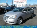 Used 2013 Nissan Sentra Auto Navigation/Leather/Sunroof/Bluetooth for sale in Mississauga, ON