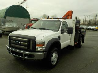 Used 2009 Ford F-550 Regular Cab 4WD Dually Flat Deck with FASSI Crane for sale in Burnaby, BC
