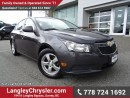 Used 2011 Chevrolet Cruze LT Turbo ACCIDENT FREE w/ TURBO, POWER WINDOWS/LOCKS & BLUETOOTH for sale in Surrey, BC