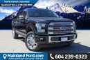 Used 2015 Ford F-150 Platinum LOCAL, ONE OWNER for sale in Surrey, BC
