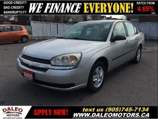Used 2005 Chevrolet Malibu ECONOMICAL   NO CREDIT CHECK IN-HOUSE LEASING for sale in Hamilton, ON