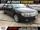 Used 2009 Lincoln MKZ AWD 75 KM SUNROOF HEATED/COOLED LEATHER for sale in Hamilton, ON