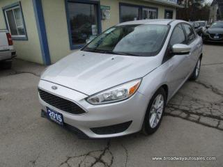 Used 2015 Ford Focus POWER EQUIPPED SE EDITION 5 PASSENGER 2.0L - DOHC.. HEATED SEATS & WHEEL.. BACK-UP CAMERA.. BLUETOOTH SYSTEM.. KEYLESS ENTRY.. for sale in Bradford, ON