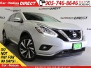 Used 2016 Nissan Murano Platinum| LEATHER| PANO ROOF| NAVI| AWD| for sale in Burlington, ON