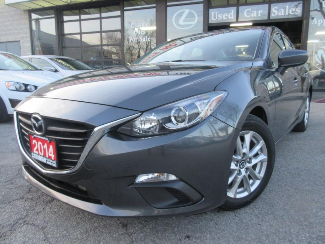 2014 Mazda MAZDA3 GS-SKY-ALLOYS-CAMERA-FOG-LIGHT-BLUE-TO-HEATED