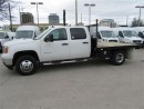 Used 2013 GMC Sierra 3500 CrewCab dually 4x4 gas with 9 ft flat deck for sale in Richmond Hill, ON