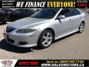 Used 2004 Mazda MAZDA6 GS-V6 SUNROOF LEASES NO CREDIT CHECK for sale in Hamilton, ON