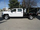 Used 2015 Chevrolet Silverado 3500 Crew Cab 4x4 Gas with 8 ft flat deck for sale in Richmond Hill, ON