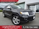 Used 2012 Jeep Grand Cherokee Overland W/ 4X4, QUADRA-LIFT AIR SUSPENSION & PANORAMIC SUNROOF for sale in Surrey, BC