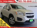 Used 2013 Chevrolet Trax LS| ONE-PRICE INTEGRITY| OPEN SUNDAYS| for sale in Burlington, ON
