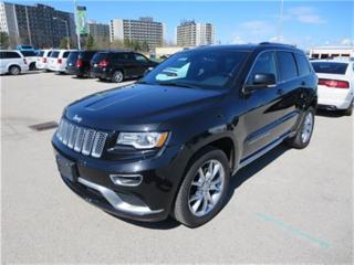 Used 2016 Jeep Grand Cherokee Summit - Hemi  4x4  Leather  GPS  Ventilated Seats for sale in London, ON