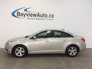 Used 2013 Chevrolet Cruze LT- TURBO! RMT START! ALLOYS! LEATHER! ON STAR! for sale in Belleville, ON