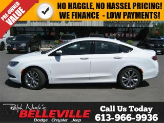 Used 2016 Chrysler 200 S-Remote Start-Back UP Camera for sale in Belleville, ON