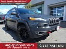 Used 2016 Jeep Cherokee Trailhawk ACCIDENT FREE w/ 4X4, OFF-ROAD GROUP & LEATHER for sale in Surrey, BC