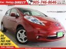 Used 2012 Nissan Leaf SL| LOW KM'S| BACK UP CAMERA| ELECTRIC| for sale in Burlington, ON