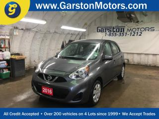 Used 2016 Nissan Micra SV*BLUETOOTH PHONE*KEYLESS ENTRY*POWER HEATED MIRRORS*POWER WINDOWS/LOCKS*CD/MP3 W/AUX INPUT * for sale in Cambridge, ON