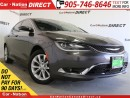 Used 2015 Chrysler 200 C| LEATHER| PANO ROOF| NAVI| BACK UP CAMERA| for sale in Burlington, ON