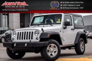 New 2017 Jeep Wrangler New Car Sport|4x4|HardTop|A/C|Cruise|TowHooks|FogLamps|16