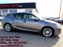 Used 2013 Lexus CT 200h Hybrid PREMIUM PKG LEATHER SUNROOF CERTIFIED 2YR for sale in Milton, ON