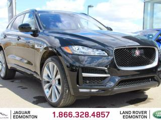Used 2017 Jaguar F-PACE 35t R-Sport - 4yr/80000kms manufacturer warranty included until March 31, 2021! Locally Owned and Serviced | Executive Demo | No Accidents | 3M Protection Applied | Navigation | Surround Camera System | Parking Sensors | Park Assist | Reverse Traffic/Blin for sale in Edmonton, AB