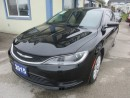 Used 2015 Chrysler 200 'GREAT VALUE' POWER EQUIPPED LX MODEL 5 PASSENGER 2.4L - DOHC ENGINE.. AUX/USB INPUT.. KEYLESS ENTRY & START.. for sale in Bradford, ON