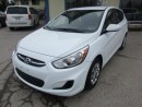 Used 2016 Hyundai Accent LOADED SPORT EDITION 5 PASSENGER 1.6L - DOHC.. HEATED SEATS.. FACTORY WARRANTY.. CD/AUX/USB INPUT.. BLUETOOTH.. for sale in Bradford, ON