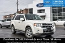 Used 2012 Ford Escape LIMITED 4WD - LEATHER - POWER MOONROOF - HEATED FRONT SEATS - REVERSE SENSING SYSTEM for sale in Ottawa, ON