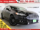 Used 2014 Ford Fusion SE| LEATHER| SUNROOF| NAVI| BACK UP CAMERA| for sale in Burlington, ON