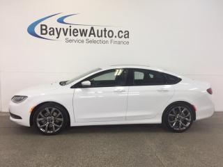 Used 2016 Chrysler 200 S- 3.6L! PANOROOF! REM STRT! LEATHER! NAV! ALPINE! for sale in Belleville, ON