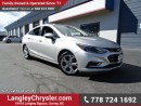 Used 2017 Chevrolet Cruze Premier Auto ACCIDENT FREE w/ LEATHER UPHOLSTERY, HEATED FRONT SEATS & REAR-VIEW CAMERA for sale in Surrey, BC