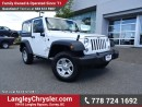 Used 2016 Jeep Wrangler Sport W/ 4X4, U-CONNECT BLUETOOTH & A/C for sale in Surrey, BC