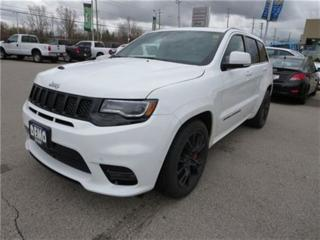 Used 2017 Jeep Grand Cherokee SRT - 6.4L Hemi  Red Leather  Sunroof  Dual Exhaus for sale in London, ON