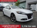 Used 2016 Dodge Dart GT EX-DEMO! W/ 6-SPEED MANUAL, LEATHER & NAVIGATION for sale in Surrey, BC