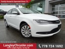 Used 2016 Chrysler 200 LX ACCIDENT FREE W/ POWER WINDOWS/LOCKS, A/C & KEYLESS GO for sale in Surrey, BC