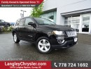 Used 2015 Jeep Compass Sport/North W/ 4X4, LEATHER UPHOLSTERY & HEATED FRONT SEATS for sale in Surrey, BC